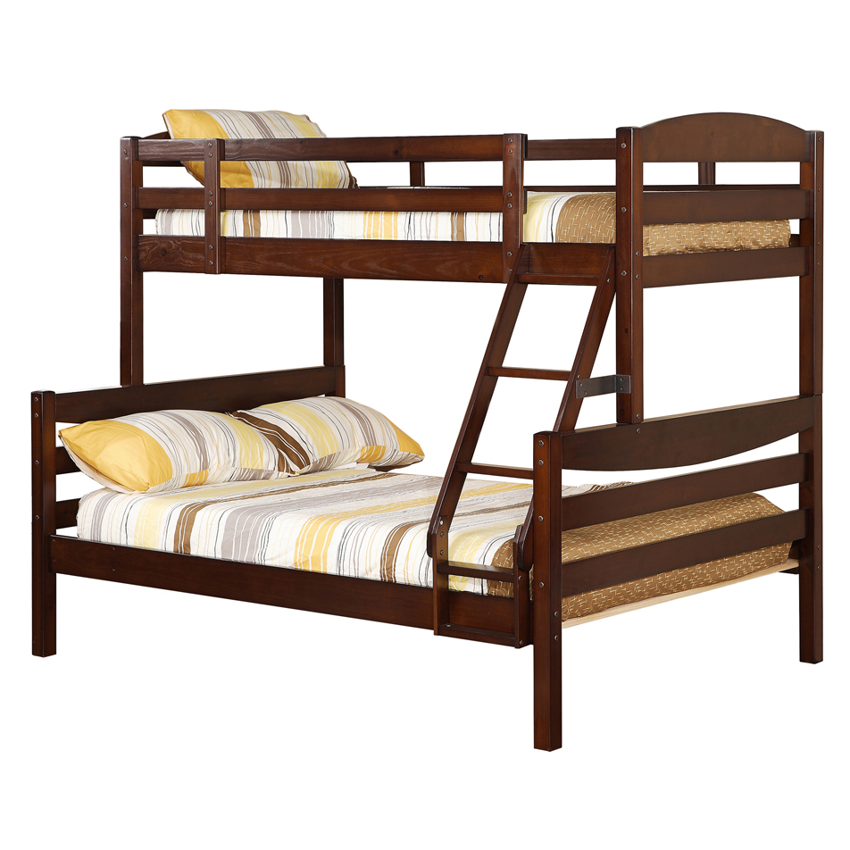 Twin full solid wood bunk bed in beds