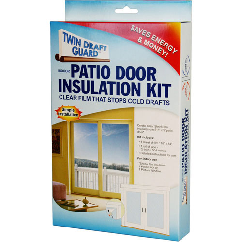 Twin Draft Guard Patio Door Insulation Kit Image