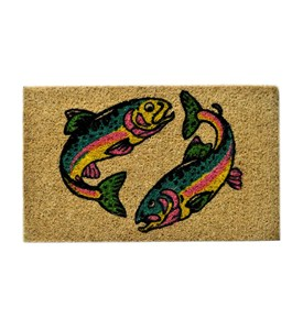 Two Fishes Mat by Imports Decor Image