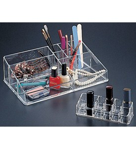 Two Piece Acrylic Cosmetic Organizer Image