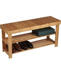 Two Shelf Bamboo Bench
