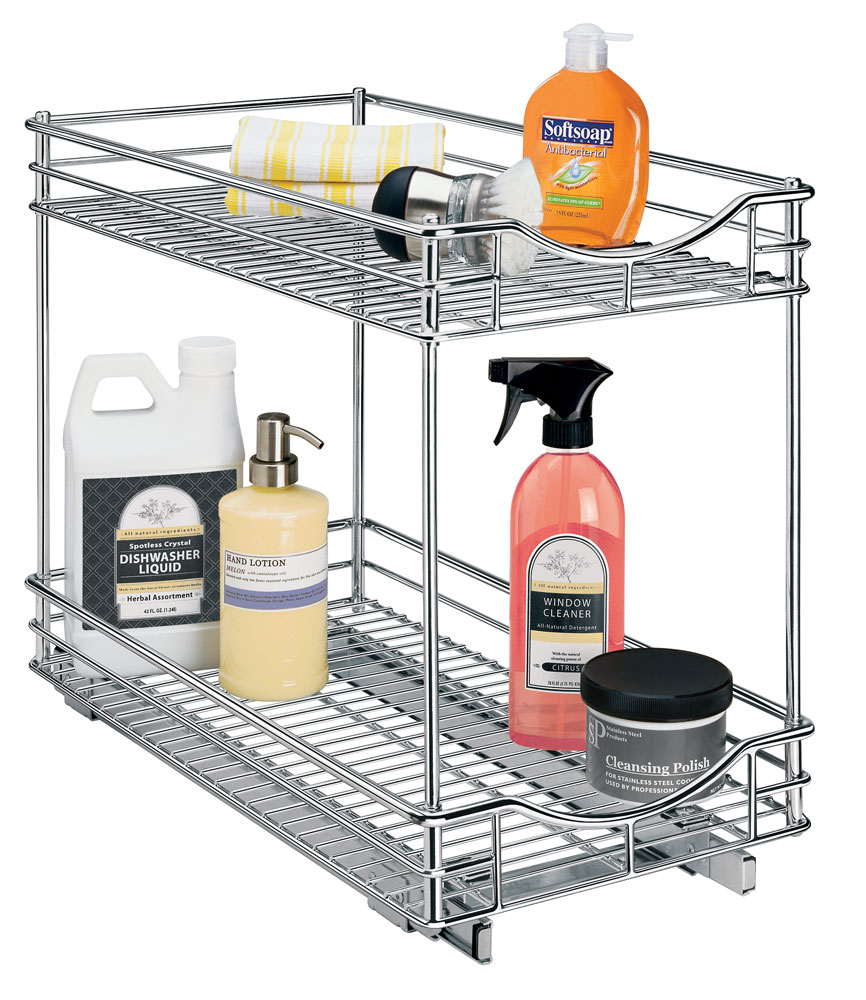 Uncategorized Sliding Basket Organizer two tier cabinet organizer 11 inch in pull out baskets image