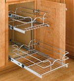 Slide Out Cabinet Shelf Two Tier Cabinet Organizer Extra Small