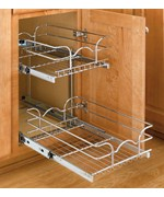 Two Tier Cabinet Organizer   Extra Small Price   116 99. Pull Out Cabinet Shelves and Organizers   Organize It