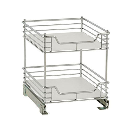 Uncategorized Sliding Basket Organizer chrome two tier sliding cabinet organizer in pull out baskets image