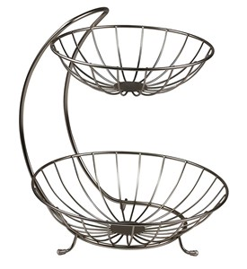 Two-Tier Curved Fruit Basket Image