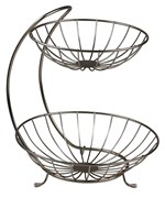 Two-Tier Curved Fruit Basket