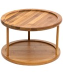 10 Inch Bamboo Two-Tier Lazy Susan Turntable