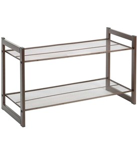 Two-Tier Shoe Rack - Bronze Image