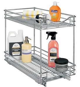 Two-Tier Sliding Cabinet Organizer - 11 Inch Image