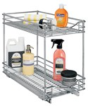 Two-Tier Sliding Cabinet Organizer - 11 Inch