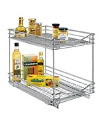Uncategorized Sliding Basket Organizer pull out cabinet baskets and organizers at organize it two tier sliding organizer 14 inch