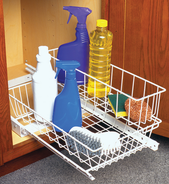 Two Tier Under Sink Sliding Baskets In Pull Out Baskets