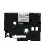 0.5 Inch P-Touch TZ Tape - Black on Clear
