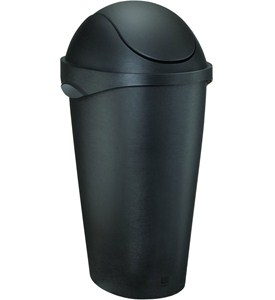 Umbra Swing Top Trash Can - Black Image