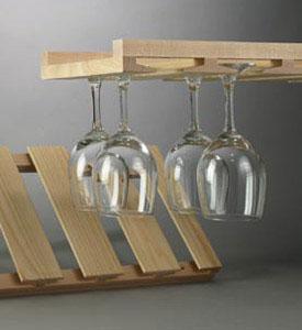 Wine Glass Racks and Stemware Racks | Organize-It
