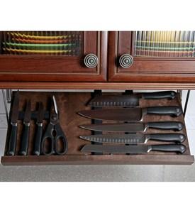 under cabinet knife block walnut in knife storage. Black Bedroom Furniture Sets. Home Design Ideas