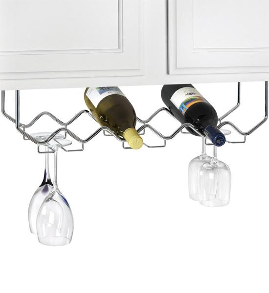 under cabinet wine and stemware rack in wine glass racks. Black Bedroom Furniture Sets. Home Design Ideas