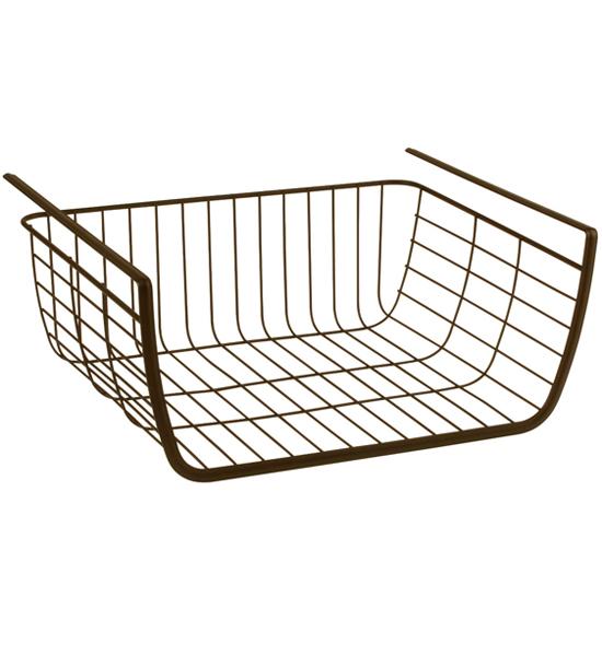 under shelf storage basket bronze in under shelf storage. Black Bedroom Furniture Sets. Home Design Ideas