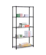 Steel Adjustable 5-Shelf Unit - Black