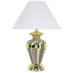 Urn shaped 32 inch metal lamp by ore in table lamps for O shaped table lamp