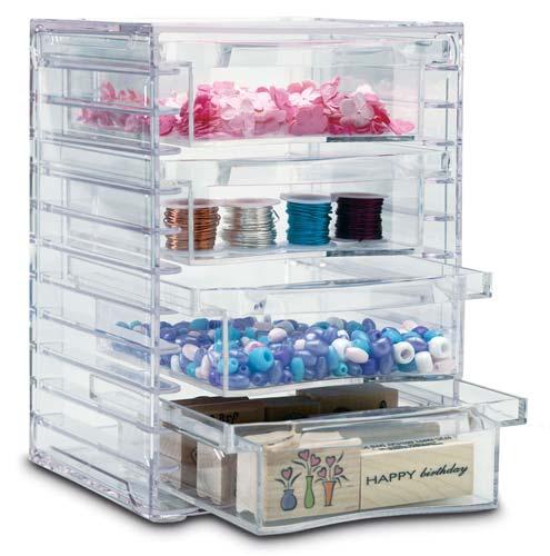 Four-drawer Acrylic Storage