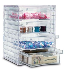 Four-Drawer Acrylic Storage Chest Image