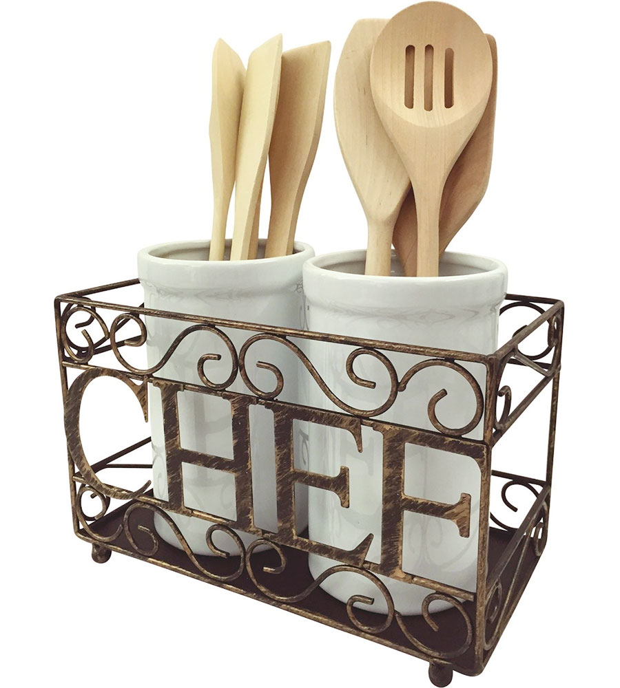 Utensil Crock Holder In Kitchen Utensil Holders