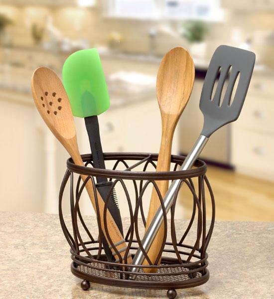 Utensil Holder Leaf Design In Kitchen Utensil Holders