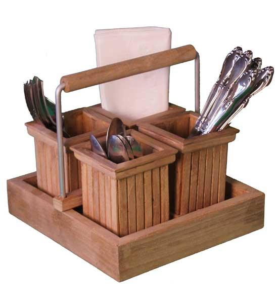 Utensil Rack Teak In Kitchen Utensil Holders