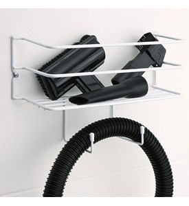 White Wire Vacuum Accessory Storage Caddy Image