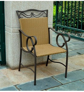 Valencia Resin Wicker and Steel Outdoor Chairs Image
