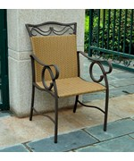 Valencia Resin Wicker and Steel Outdoor Chairs