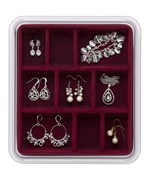 Velvet Jewelry Tray - Nine Compartment