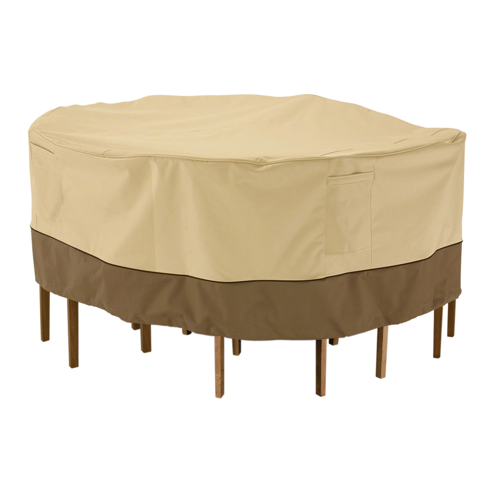 Patio table cover round veranda in patio furniture covers for Patio furniture covers