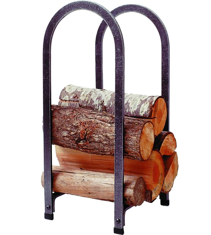 Vertical Arch Log Rack in Indoor Firewood Racks