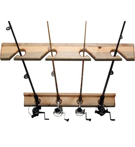 Vertical Fishing Rod Storage Rack Image