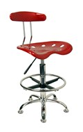 Drafting Stool with Tractor Seat