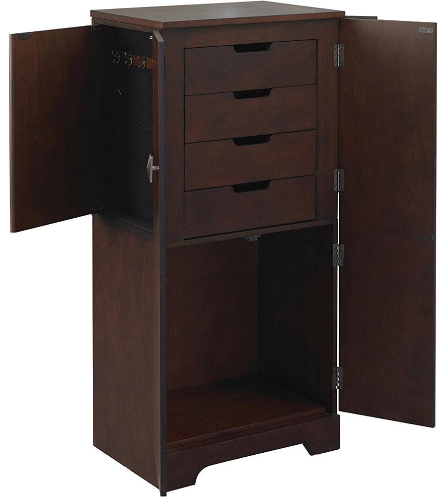 Jewelry organizer armoire victoria in armoires