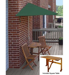 Villa 5-Pc Patio Set with 9 Ft. SolarVista Off-the-Wall-Brella by Blue Star Group Image