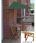 Villa 5-Pc Patio Set with 9 Ft. SolarVista Off-the-Wall-Brella by Blue Star Group