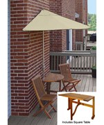 Villa 5-Pc Patio Set with 9 Ft. Sunbrella Off-the-Wall-Brella by Blue Star Group