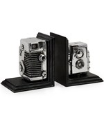 Vintage Camera Bookends by Imax
