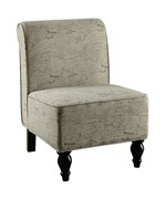 Vintage French Fabric Traditional Accent Chair by Monarch Specialties