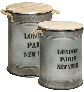 Vintage Storage Bins (Set of 2) Image