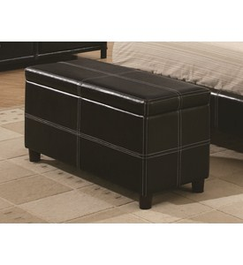 Vinyl Ottoman by Coaster Image