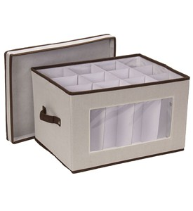 Vision Canvas Wine Goblet Storage Box Image