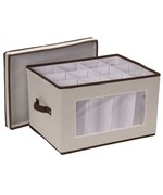 Vision Canvas Wine Goblet Storage Box