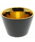 Votive Candle Holder - Black and Gold