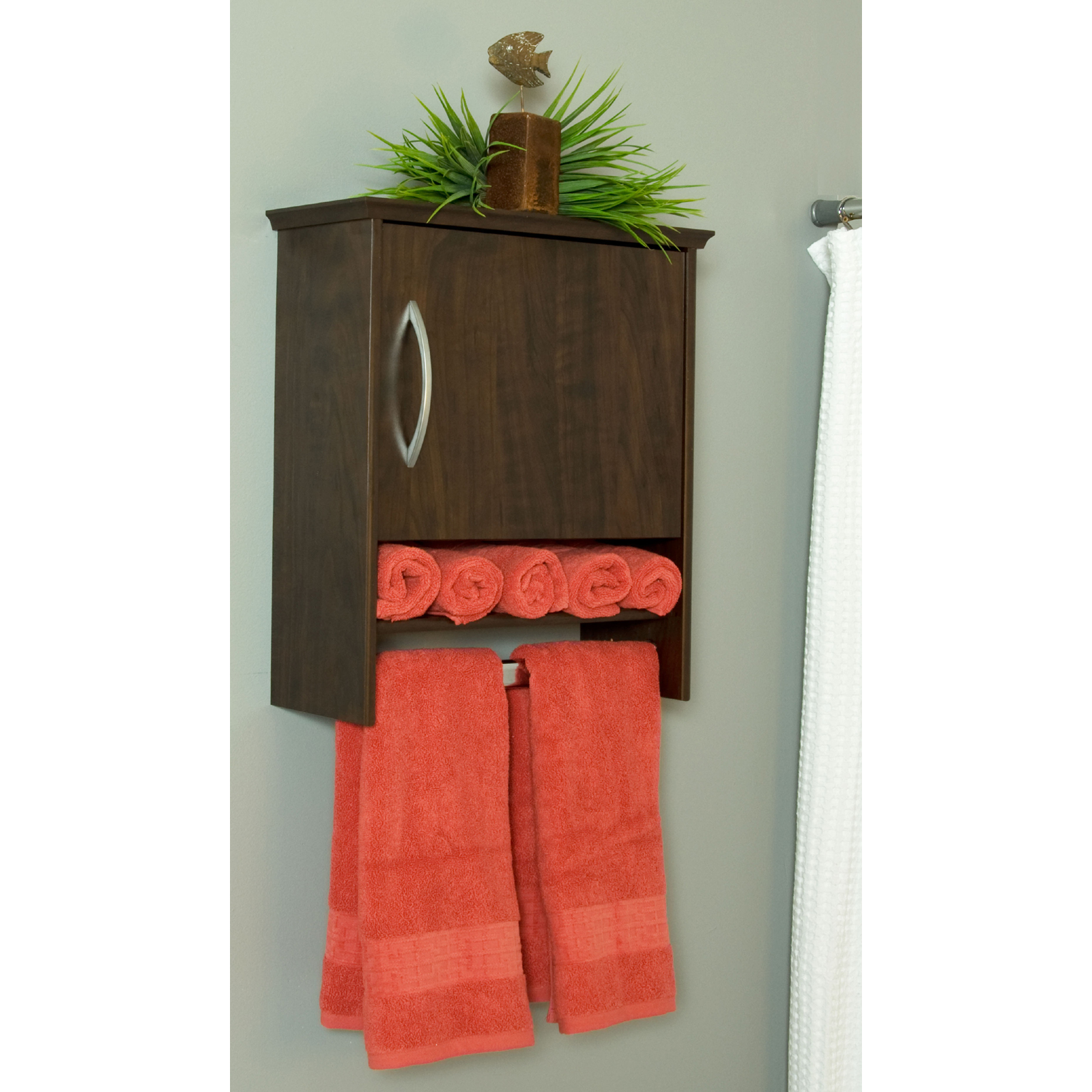 Wall Cabinet With Towel Bar Inch Deep In Bathroom Medicine